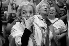 Marcha a 40 años del Golpe de Estado cívico-militar de 1976. Marcha en el día de la Memoria en la Ciudad de Buenos Aires. 24 de marzo de 2016. Foto: Daniela Yechúa / ANCCOM